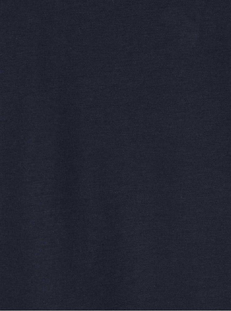 Modré pánske tričko s dlhými rukávmi s.Oliver