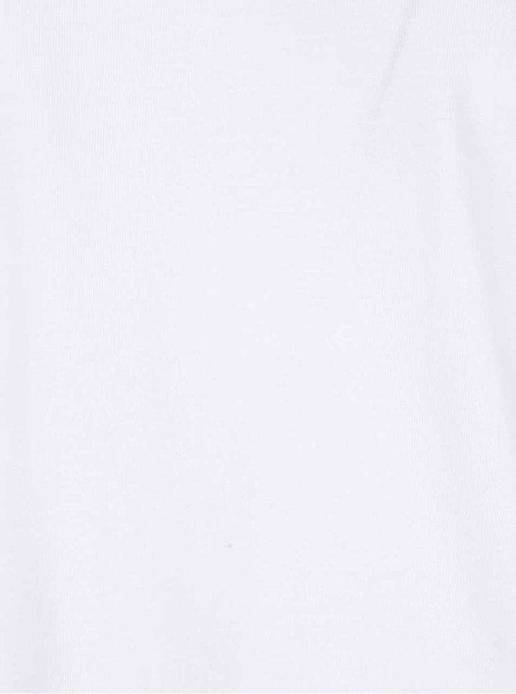 Bílé pánské triko s dlouhými rukávy s.Oliver