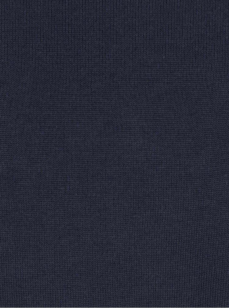 Pulover albastru închis s.Oliver din bumbac