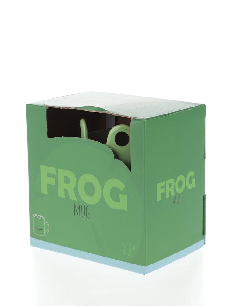 Zelený hrnček v tvare žaby Gift Republic