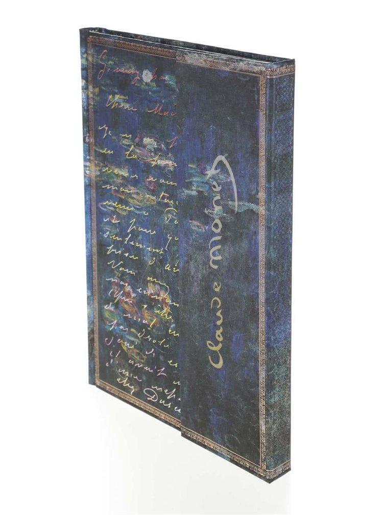 Modrý zápisník bez linajok Paperblanks LettertoMorisot Ultra