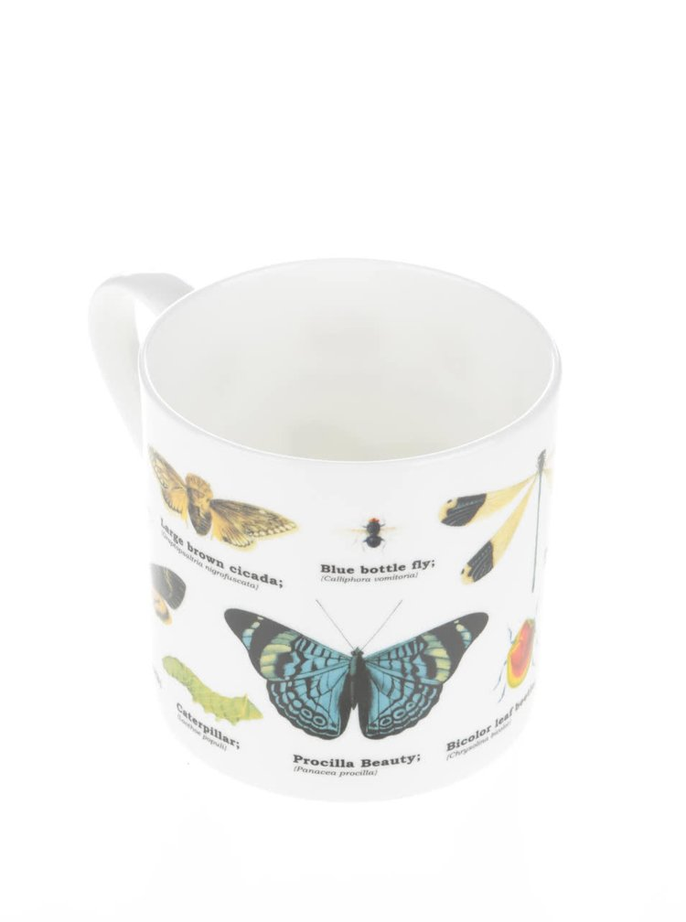 Biely hrnček s potlačou hmyzu Gift Republic