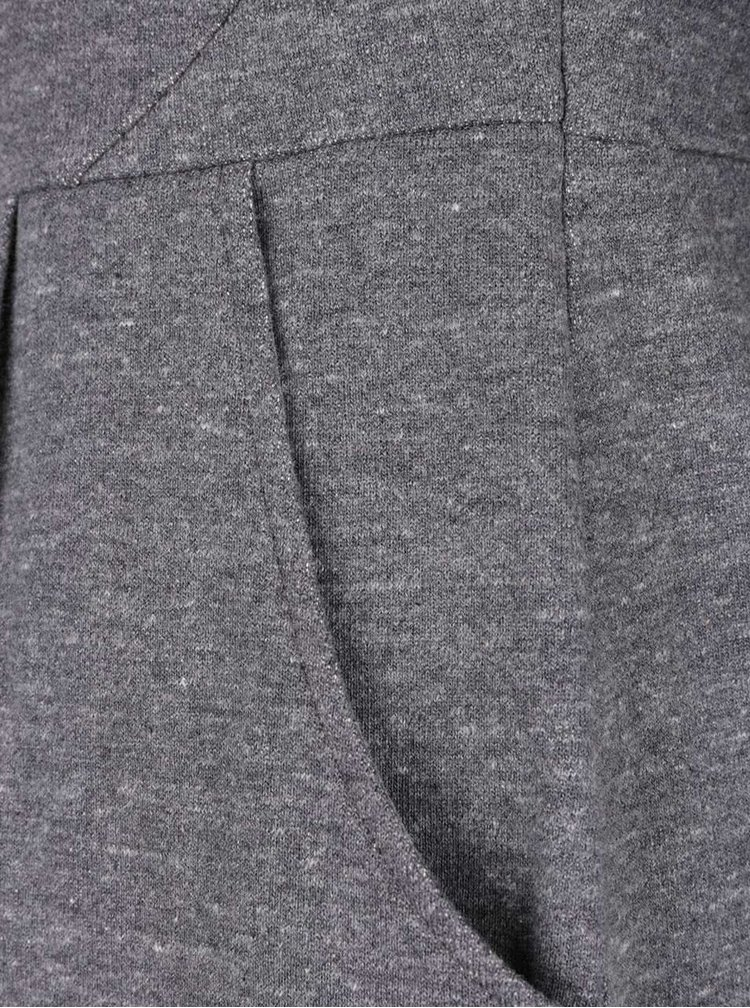 Sivé dámske melírované šaty s dlhým rukávom a vreckami Tom Joule Daylia