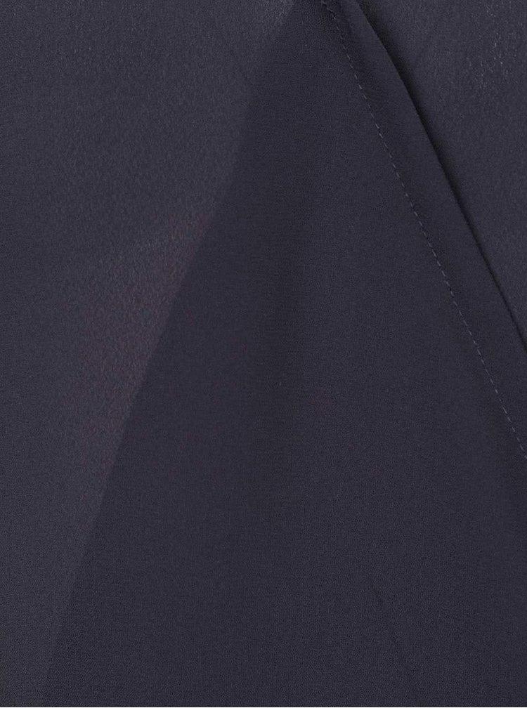 Tmavě modrá halenka s překládanou přední stranou ONLY Palma