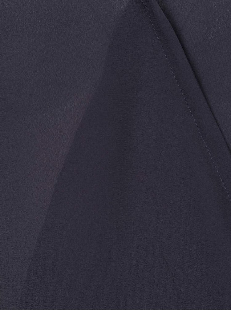 Bluza albastru inchis ONLY Palma cu croi asimetric