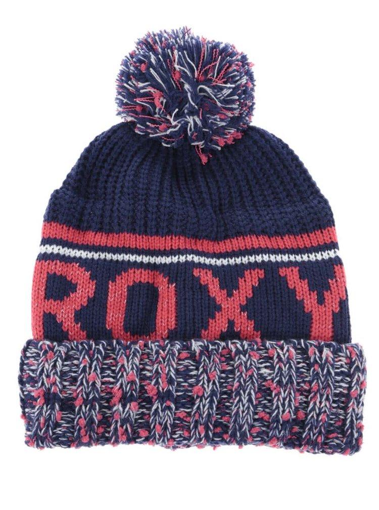 Căciulă bleumarin Roxy Tonic cu ciucure