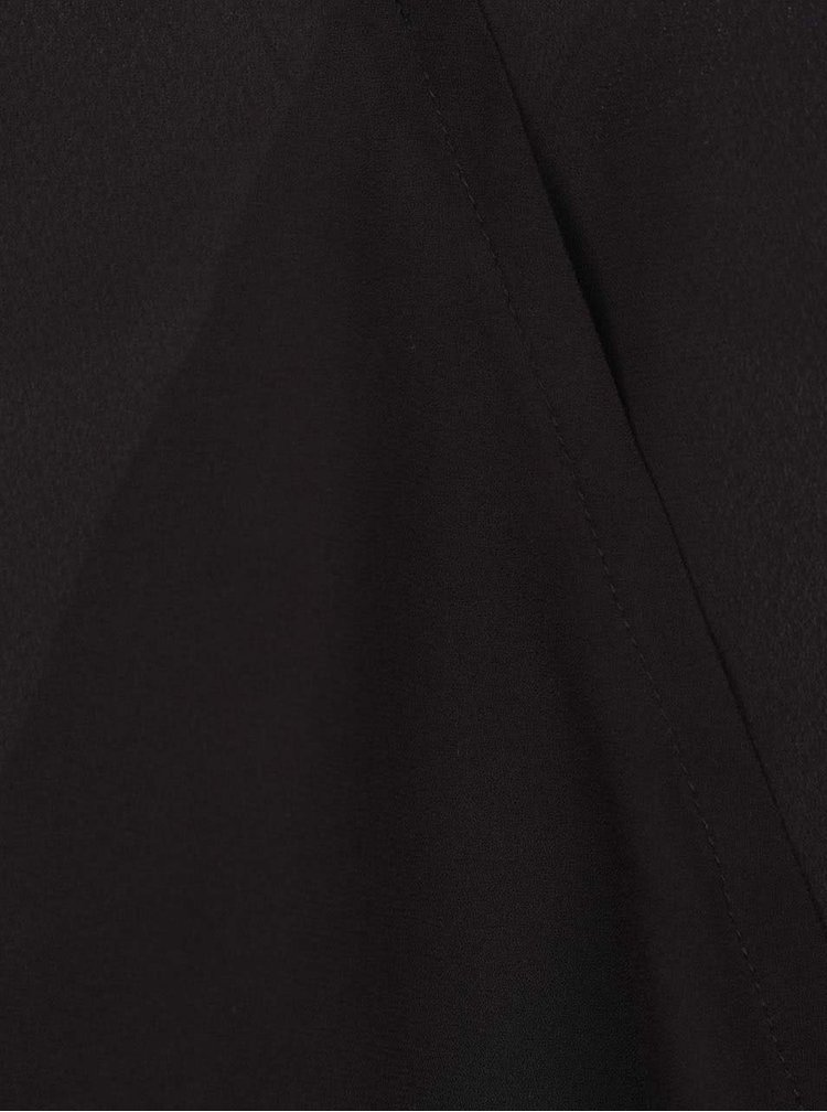 Černá halenka s překládanou přední stranou ONLY Palma