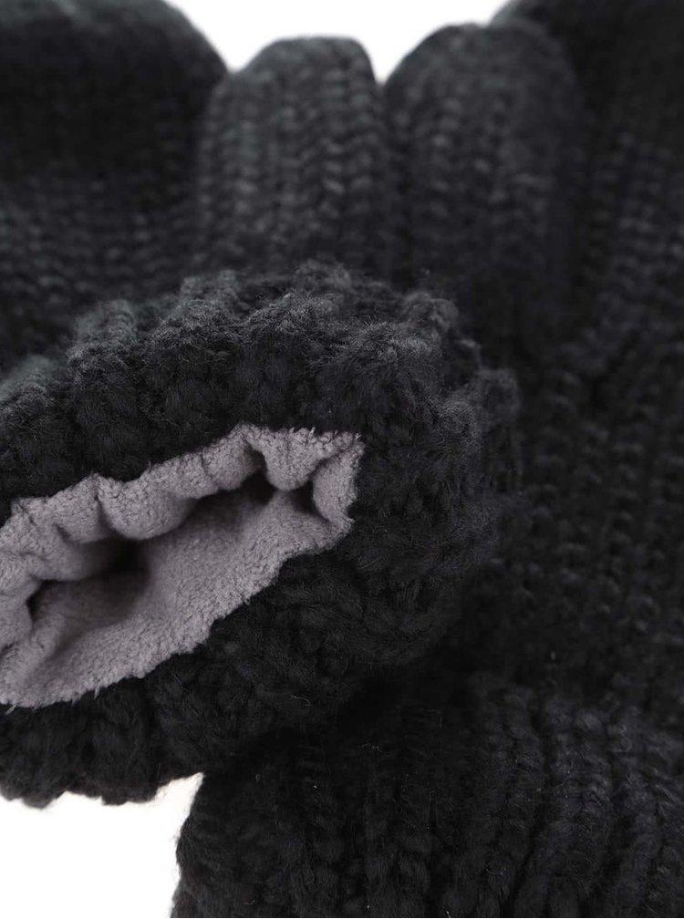 Černé rukavice s aplikacemi Roxy Shootstarscarf