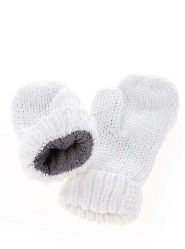 Biele rukavice s aplikáciami Roxy Shootstarscarf
