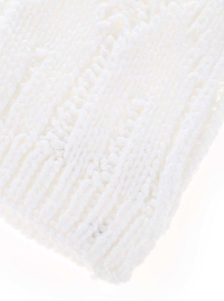 Fular alb Roxy Shootstarscarf cu aplicatii