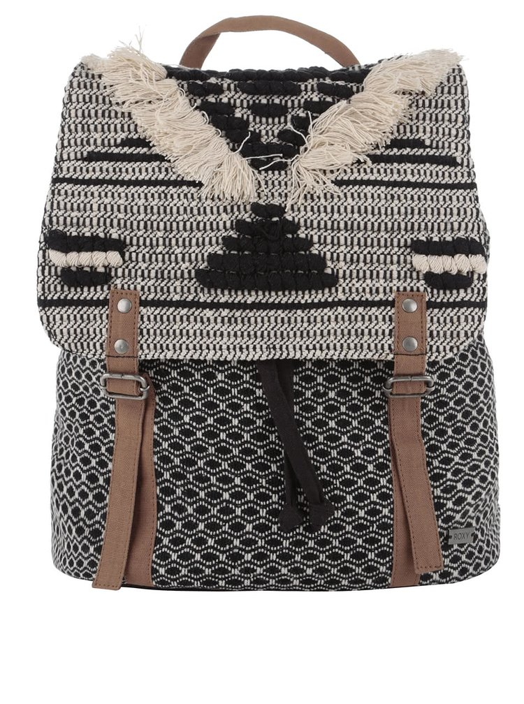 Krémovo-čierny batoh Roxy Savanna