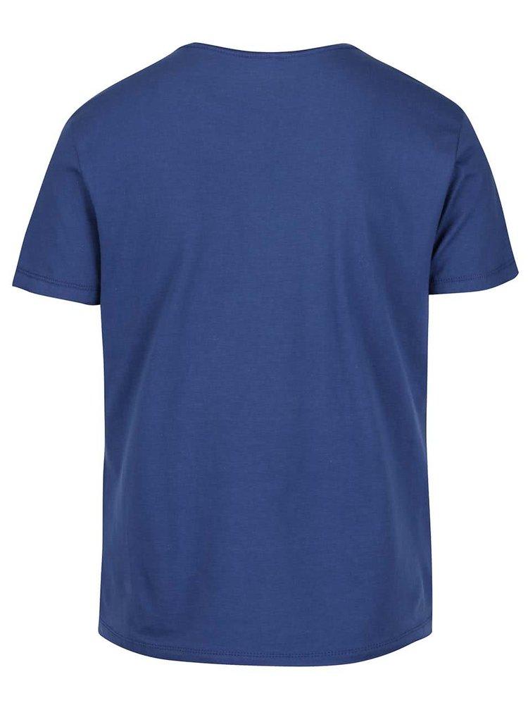 Tricou albastru Blend cu text