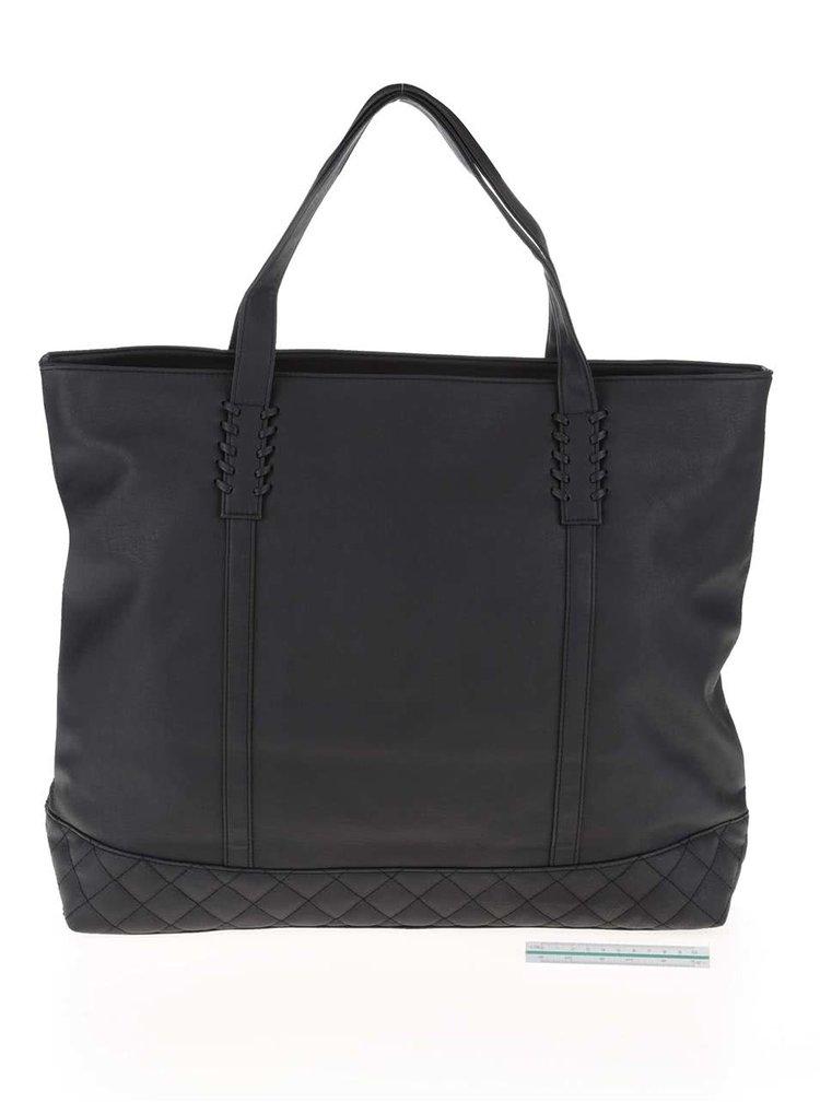 Černý koženkový shopper  Roxy Hey