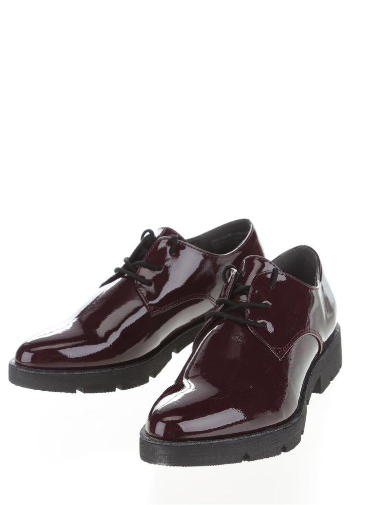 Pantofi lacuiti Tamaris visinii