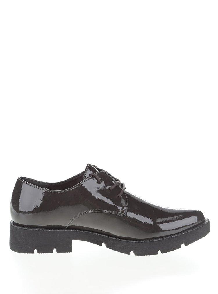 Pantofi lacuiti Tamaris gri inchis