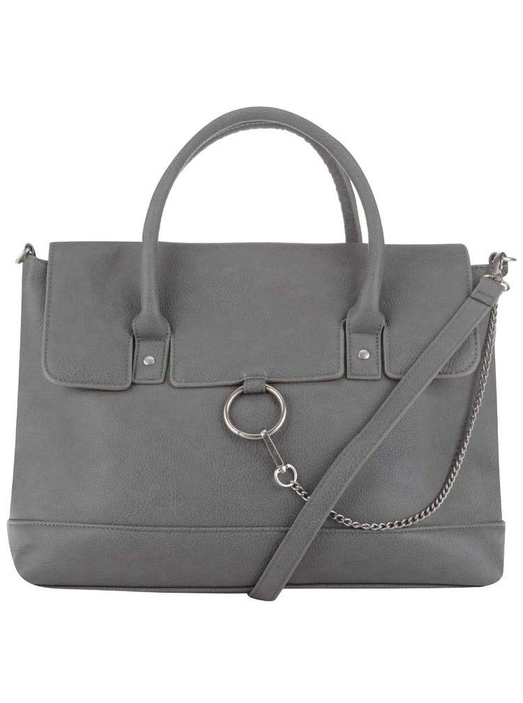 Sivá kabelka s karabínou Pieces Puk