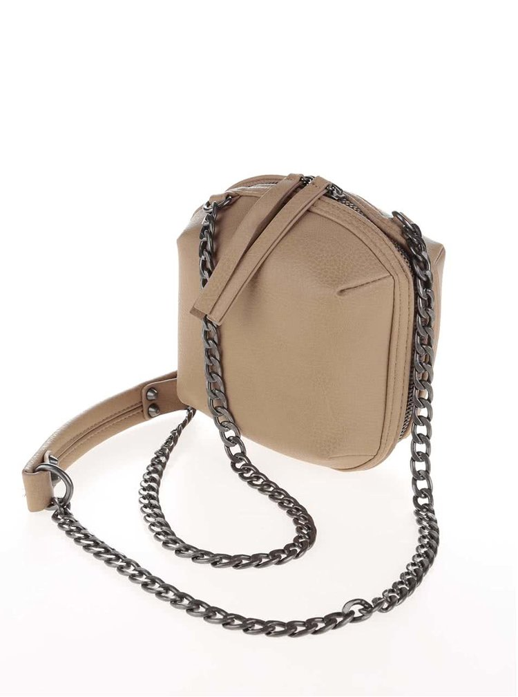 Geantă mică crossbody bej Pieces Barbara