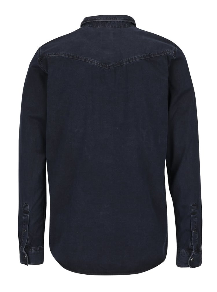 Cămașă neagră Selected Homme One Marlon din denim