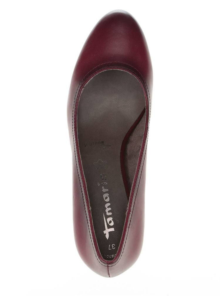 Pantofi cu toc Tamaris visinii
