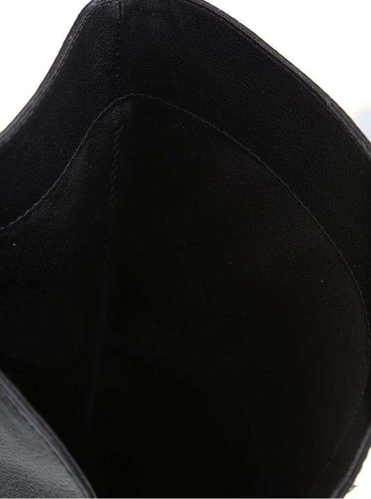 Černé vysoké koženkové kozačky ALDO Biverone