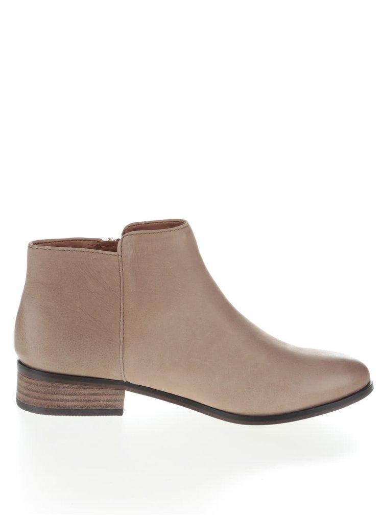 Béžové kožené dámske topánky ALDO Julianna