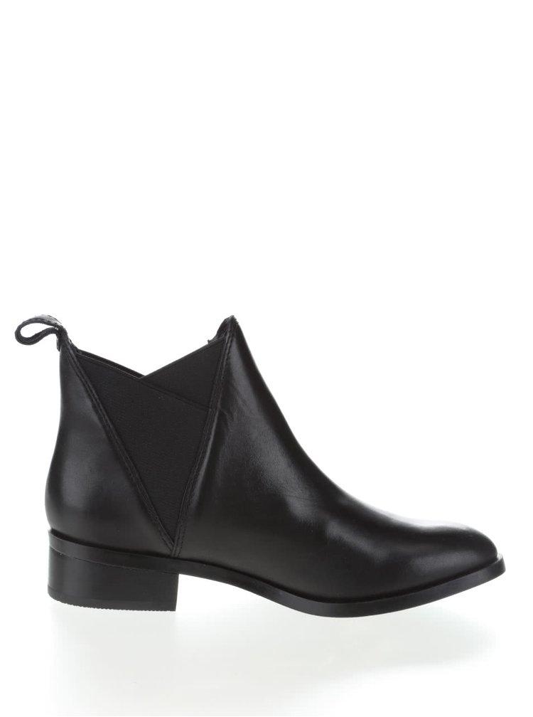 Čierne kožené dámske chelsea topánky ALDO Scotch
