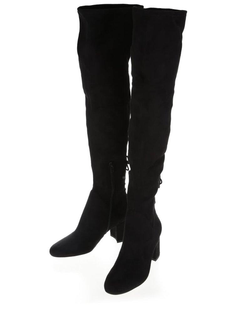 Čierne vyššie čižmy ALDO Adessi