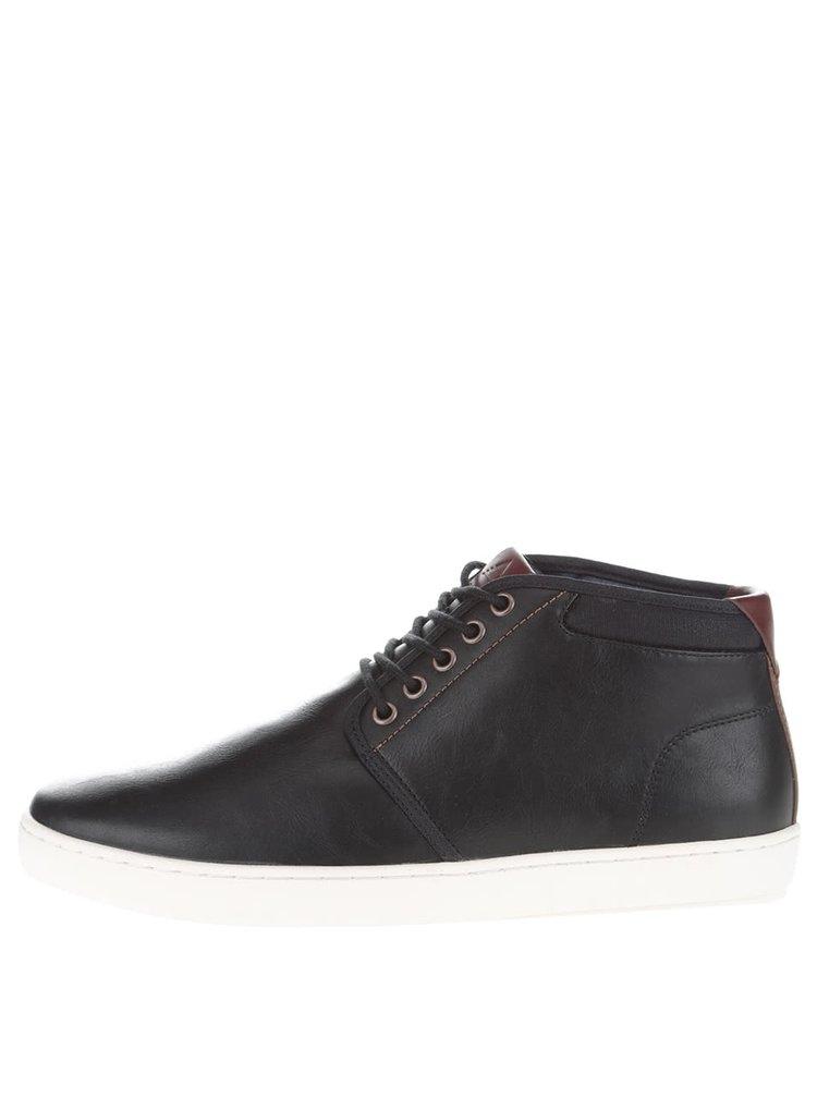 Čierne pánske členkové topánky ALDO McGourty