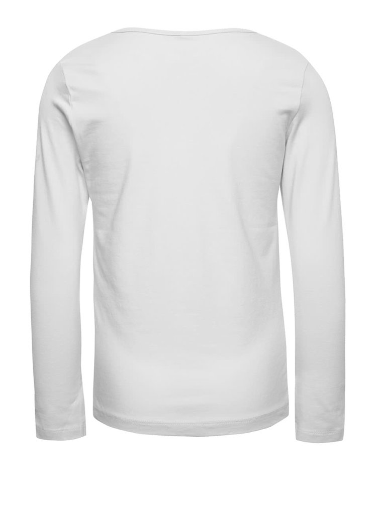 Krémové holčičí tričko s dlouhým rukávem name it Veen