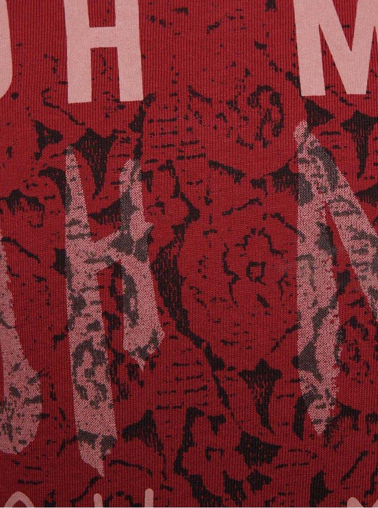 Vínové dievčenské tričko s dlhým rukávom name it Kaja