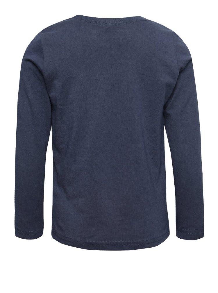 Modré chlapčenské tričko s dlhým rukávom name it Victor