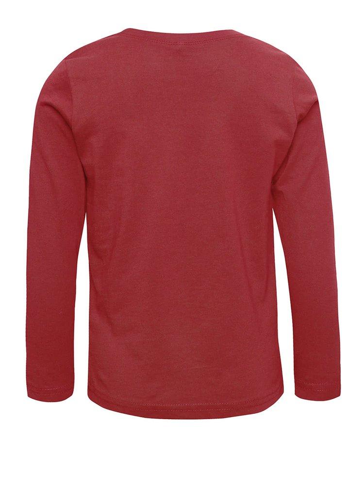 Červené chlapčenské tričko s dlhým rukávom name it Lotto