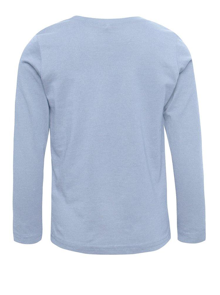 Modré chlapčenské tričko s dlhým rukávom name it Lotto