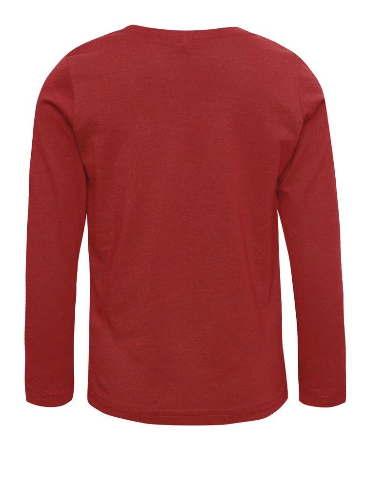Červené chlapčenské tričko s dlhým rukávom name it Victor
