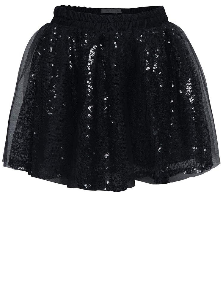 Modrá dievčenská trblietavá sukňa name it Wilfe
