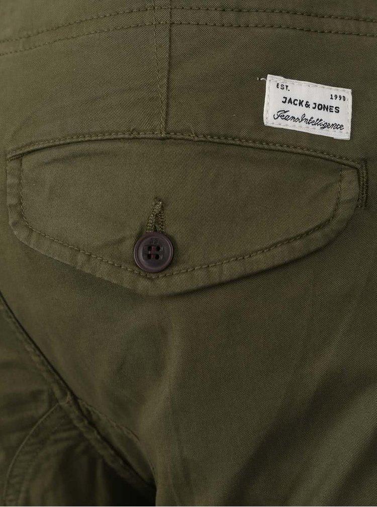 Khaki kalhoty s kapsami Jack & Jones Paul
