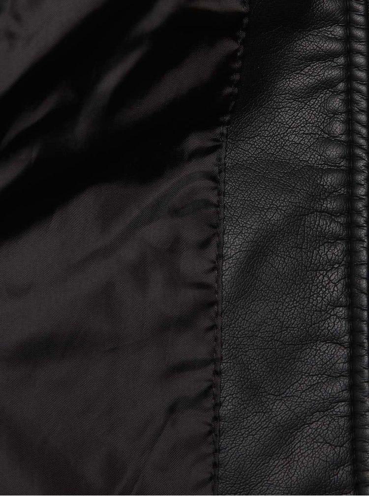 Černá holčičí koženková bunda name it Wibe