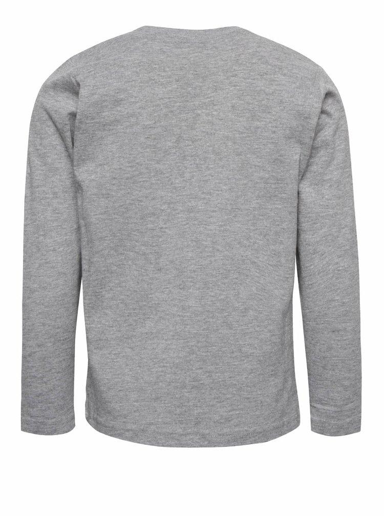 Sivé chlapčenské tričko s dlhým rukávom name it Victor