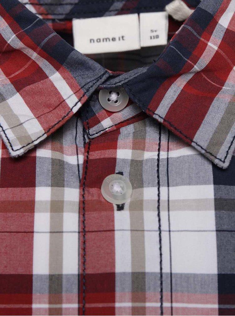 Modro-červená klučičí kostkovaná košile name it Nohn