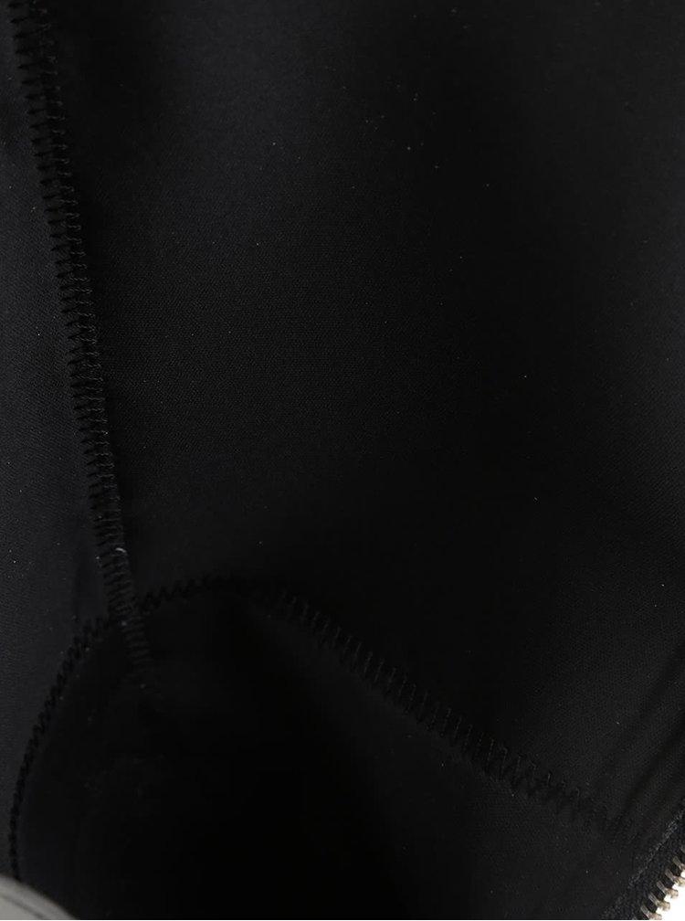 Čierne kožené čižmy ALDO Mansi