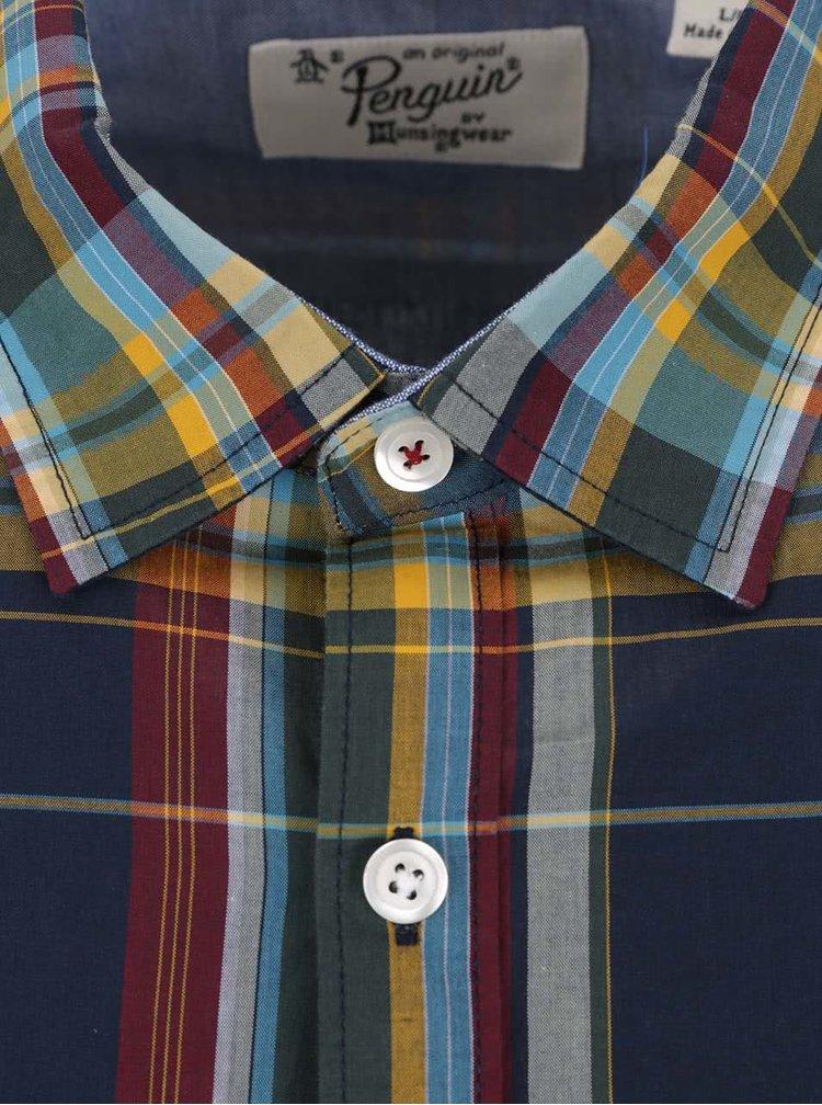 Žlto-modrá károvaná košeľa Original Penguin Plaid