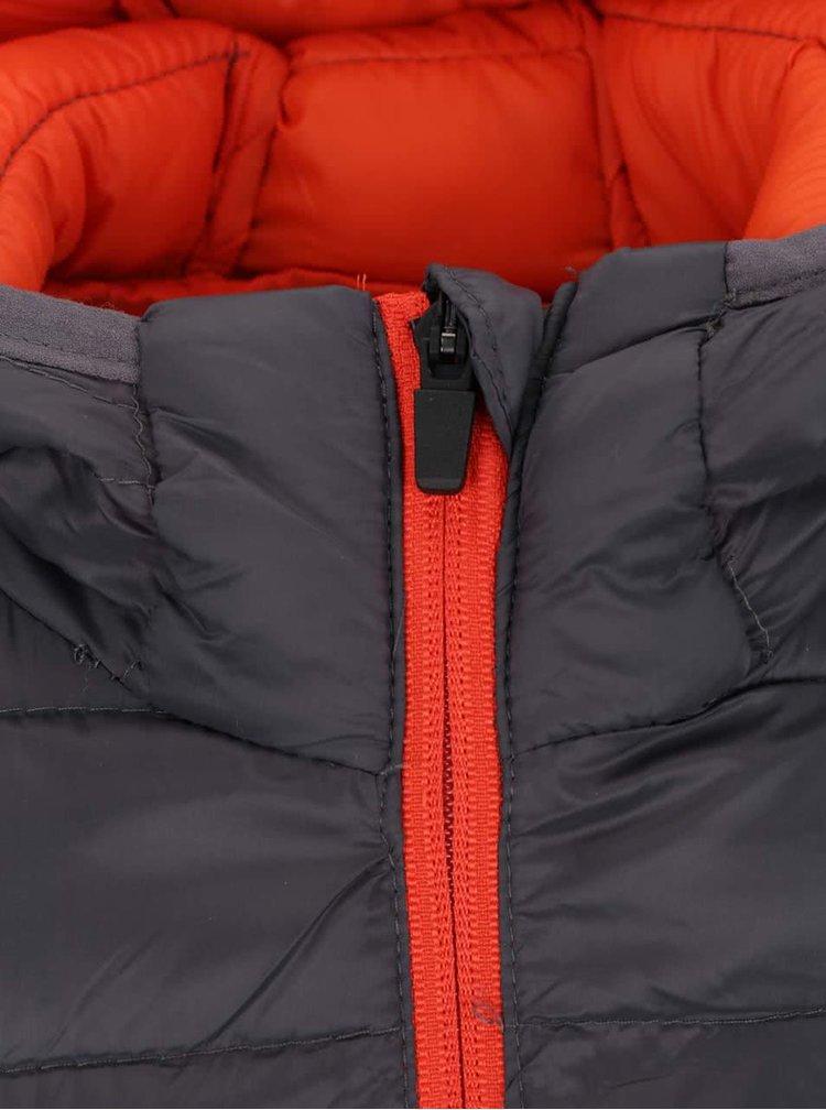 Tmavosivá prešívaná bunda s detailmi Jack & Jones Push