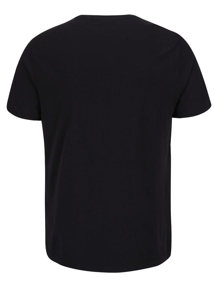 Černé triko s potiskem Original Penguin Film Reel