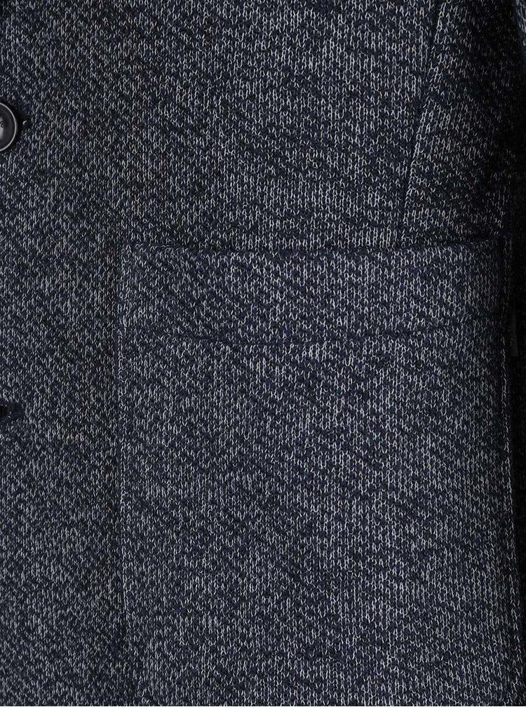 Tmavě modrý žíhaný blejzr s kapsami Jack & Jones Oscar