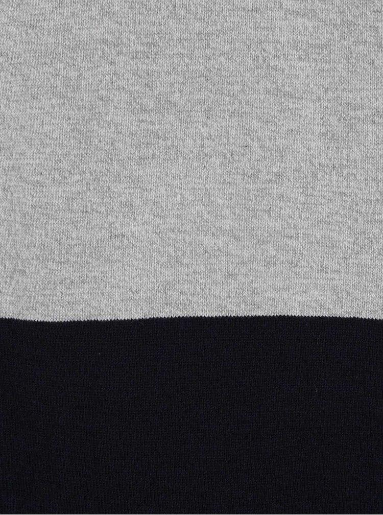 Modro-sivý tenký sveter Jack & Jones Lee