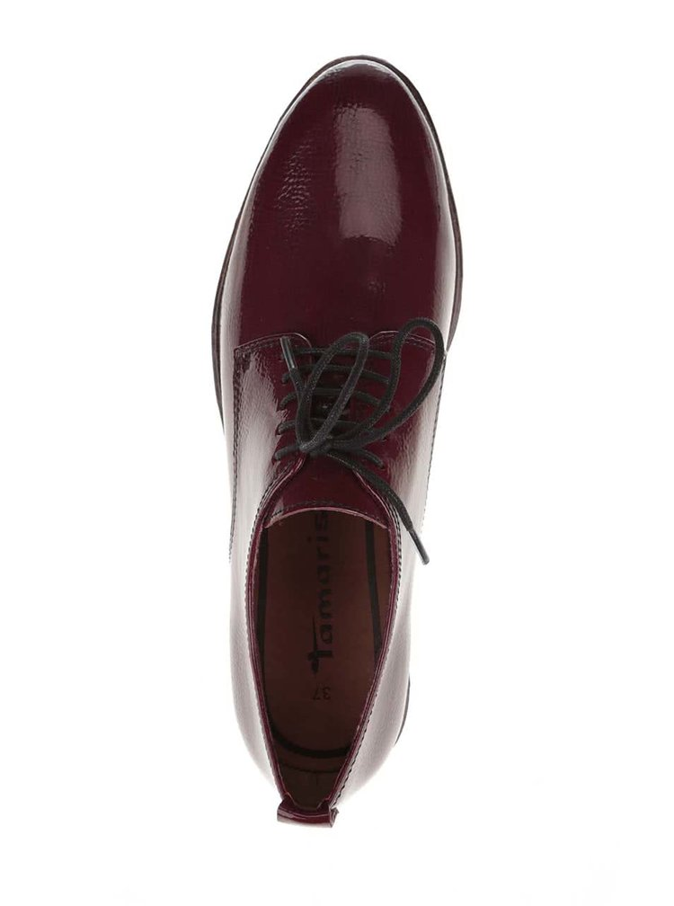 Pantofi visinii Tamaris lacuiti