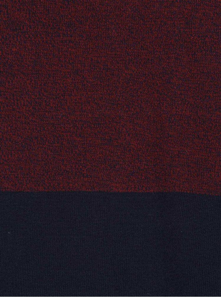 Bluză vișiniu & albastru Jack & Jones Lee din bumbac