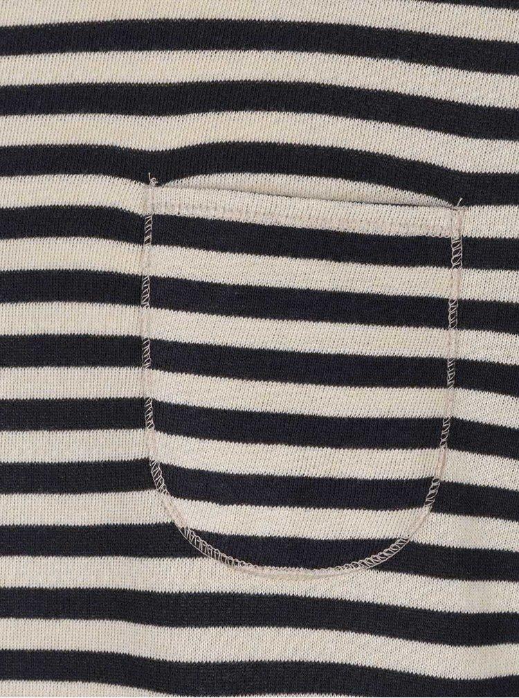 Modro-béžový lehký pruhovaný svetr Jack & Jones Bill