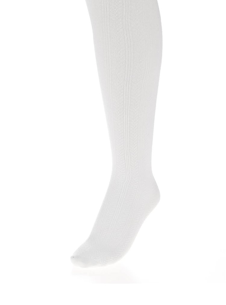 Ciorapi albi cu torsade name it Kabel pentru fete