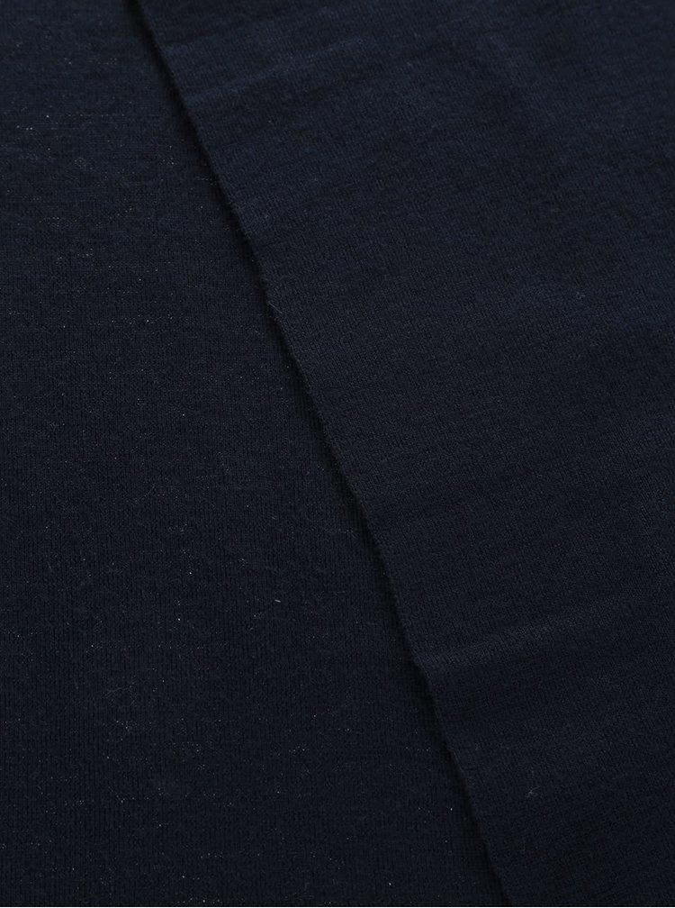 Fular bleumarin din lână Selected Homme Tower Merino